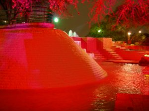 Red fountain.